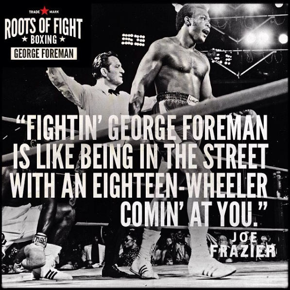 Remembering Big George Foreman's first encounter with Joe Frazier