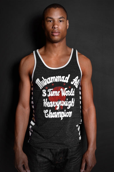 Ali 3 Time Champ Striped Tank
