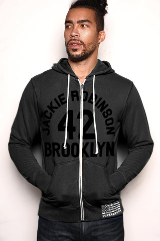 Black History Tribute - Jackie Robinson FZ Hoody Front