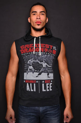 Ali vs Lee - Night of Greatness Sleeveless Hoody Front