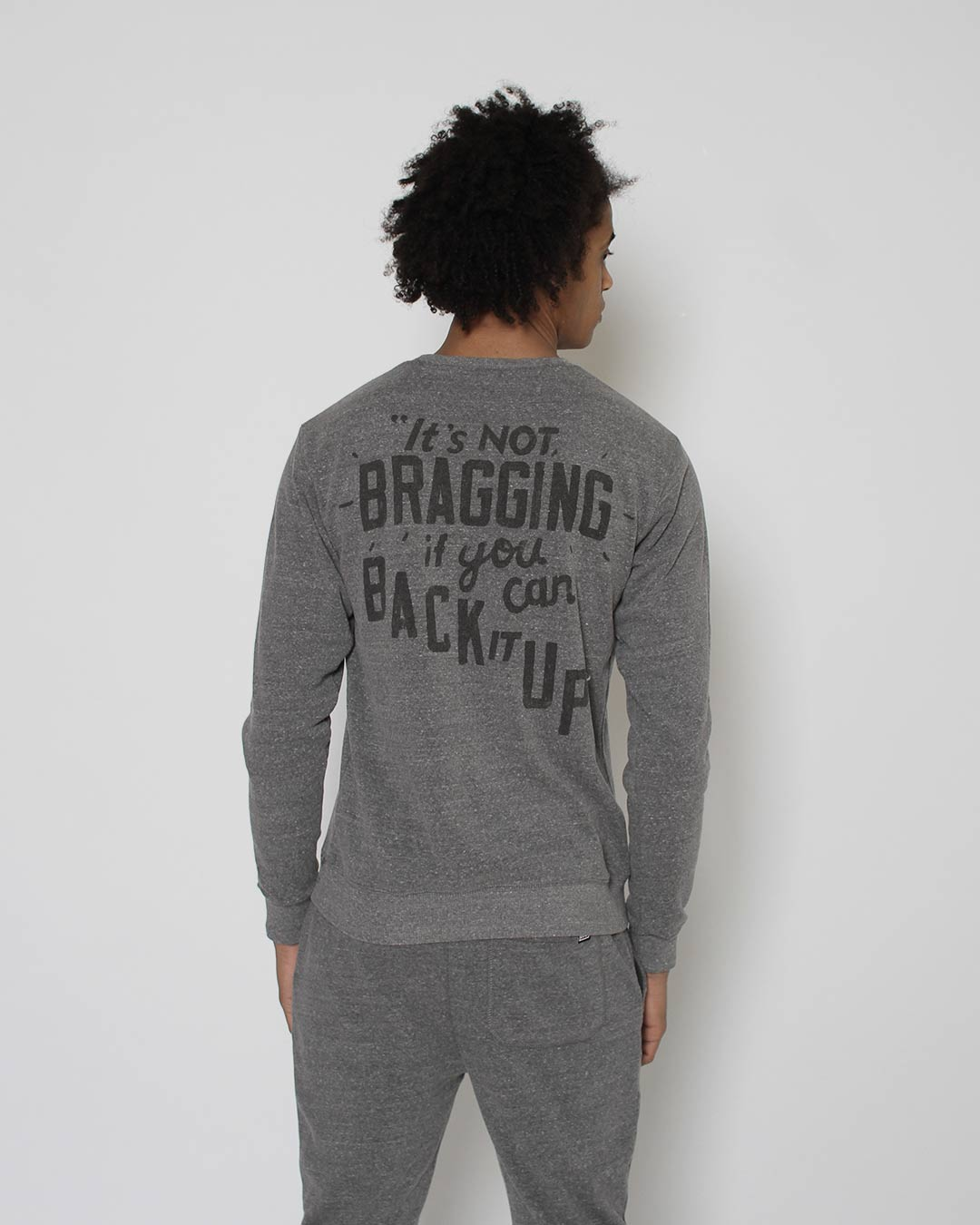 Ali Brag Quote Sweatshirt - Roots of Inc dba Roots of Fight