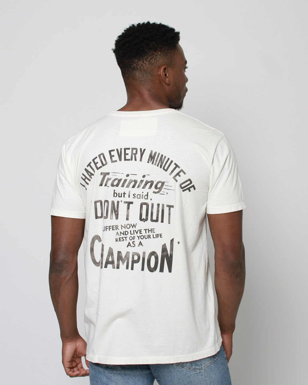 Ali Don't Quit Quote Tee - Roots of Inc dba Roots of Fight