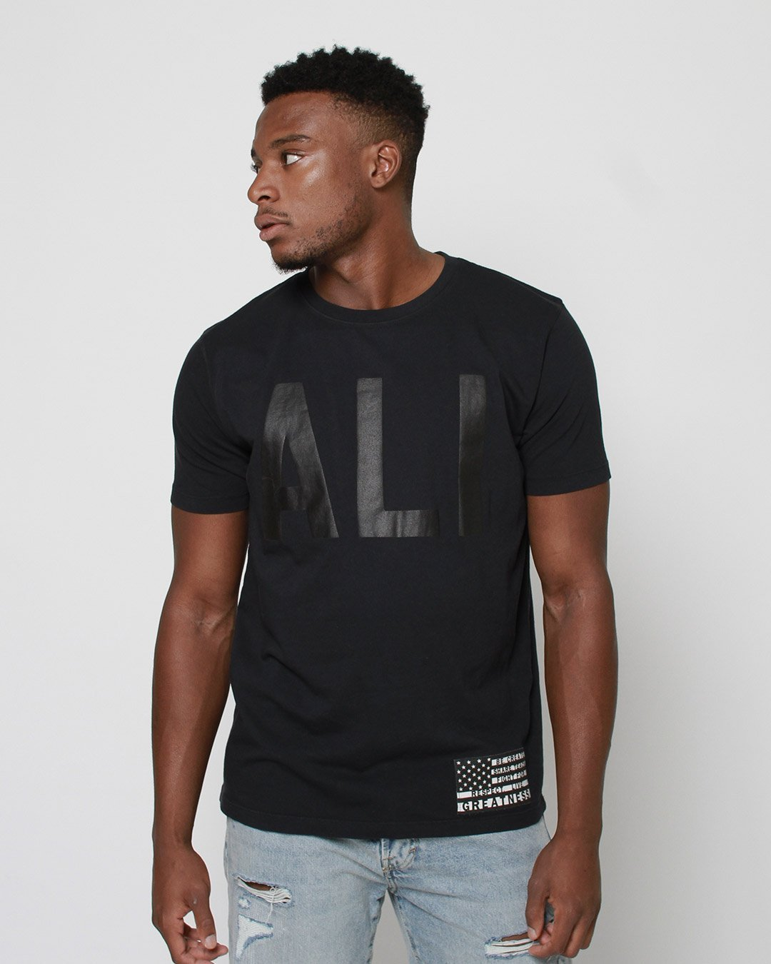 Ali Legacy Monochrome Tee - Roots of Inc dba Roots of Fight