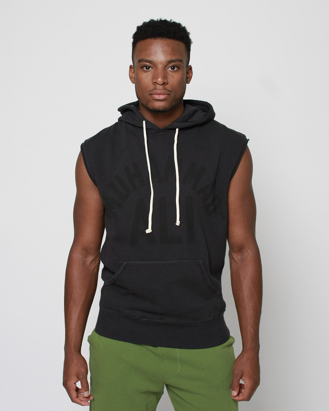 Ali Monochrome Sleeveless Hoody - Roots of Inc dba Roots of Fight
