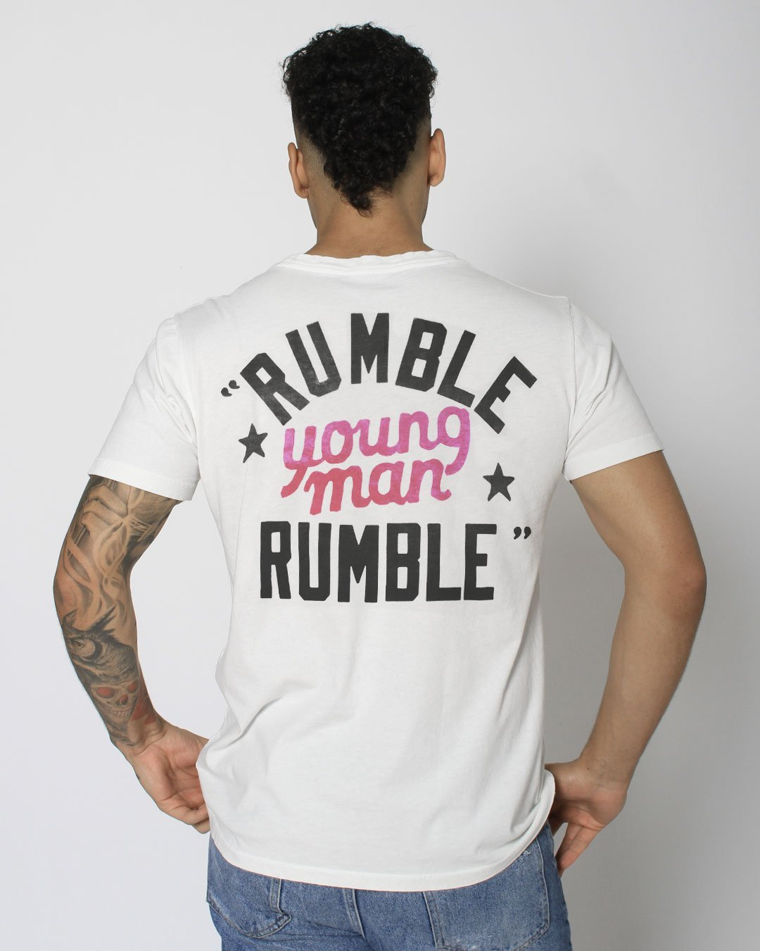 Ali Rumble in the Jungle Quote Tee - Roots of Inc dba Roots of Fight