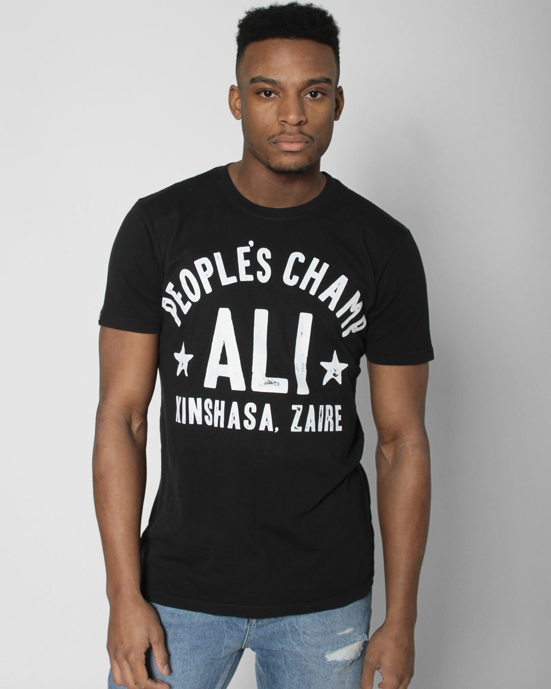 Ali Rumble Kinshasa Zaire Tee - Roots of Inc dba Roots of Fight
