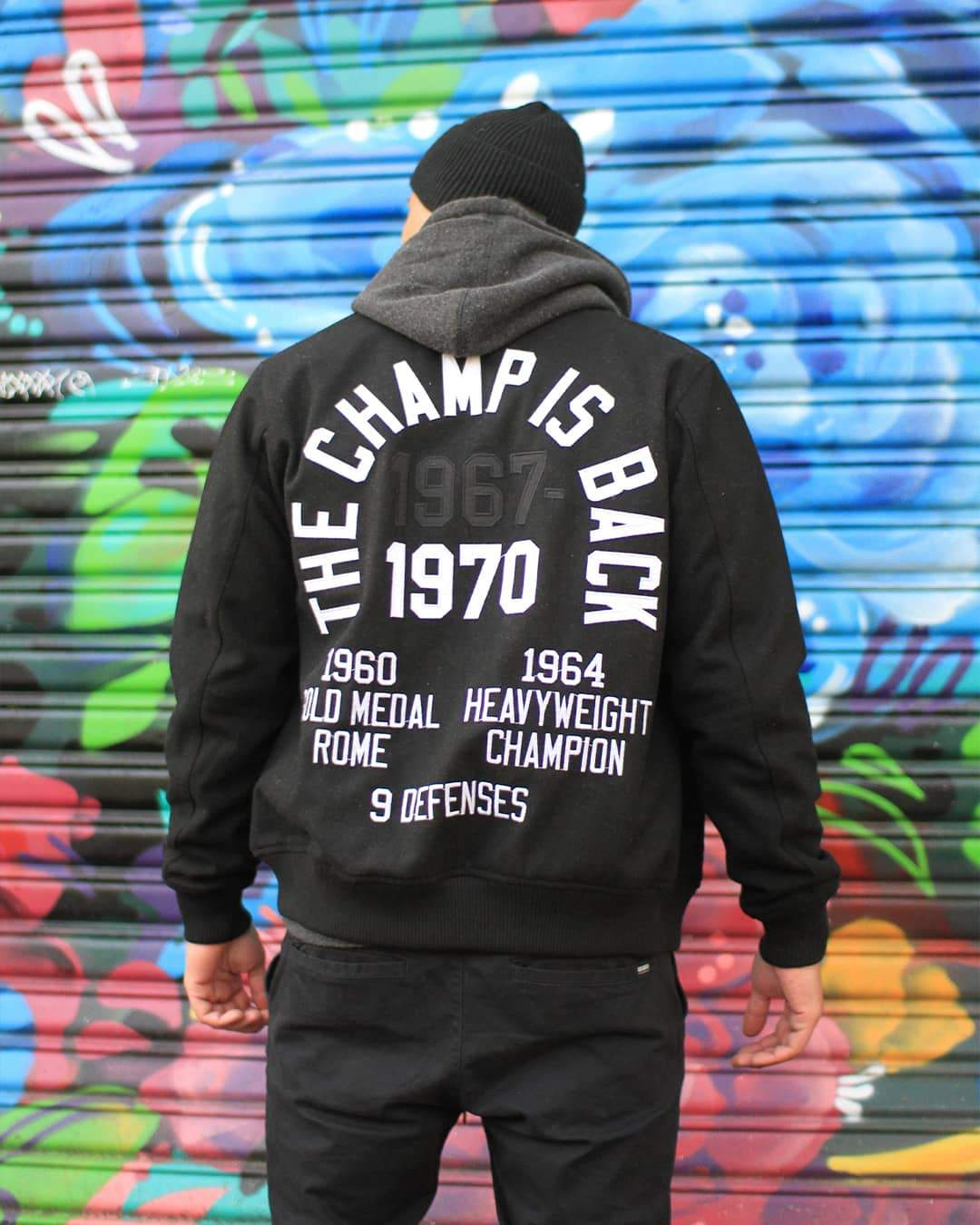 Ali Tribute Melton Jacket - Roots of Inc dba Roots of Fight