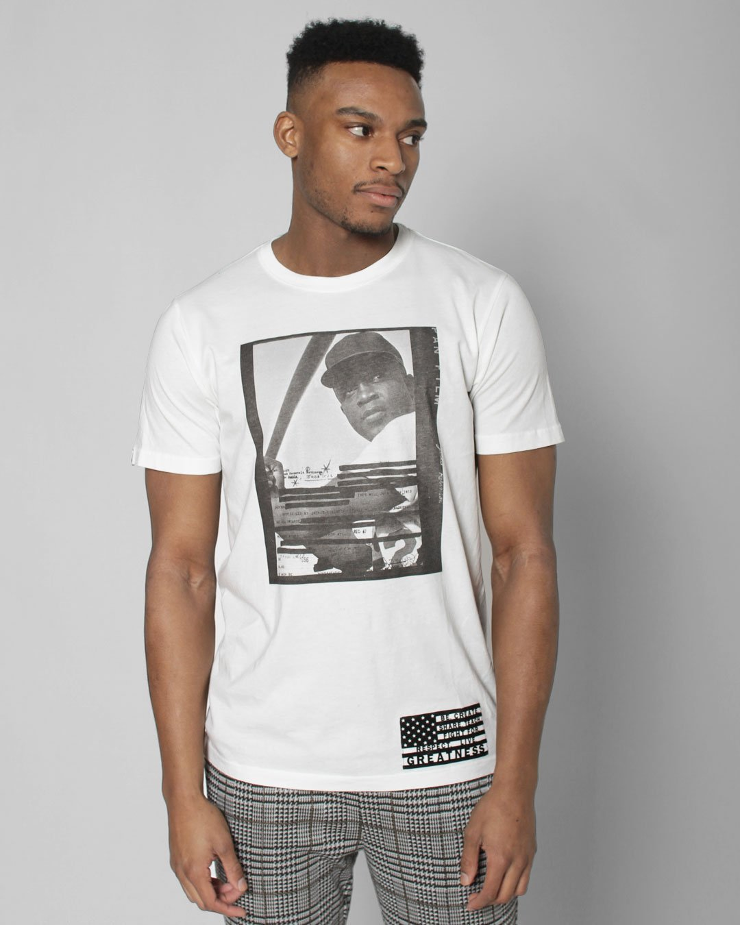 BHT - Jackie Robinson Redacted Photo Tee - Roots of Inc dba Roots of Fight