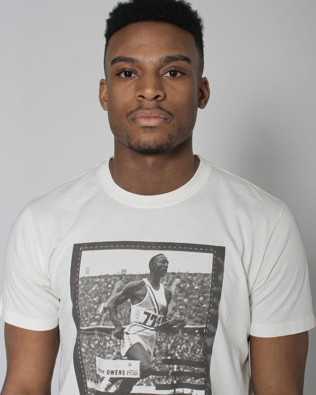 BHT - Jesse Owens Photo Tee - Roots of Inc dba Roots of Fight