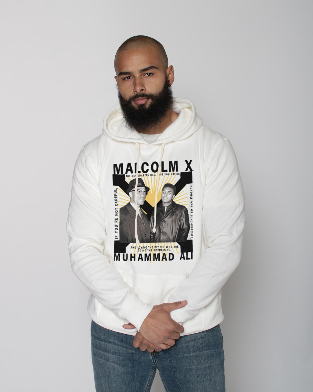 BHT - Malcolm X & Ali Pullover Hoody - Roots of Inc dba Roots of Fight