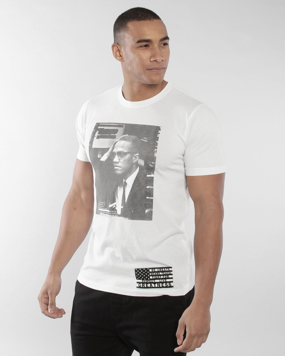 BHT - Malcolm X Redacted Photo Tee - Roots of Inc dba Roots of Fight