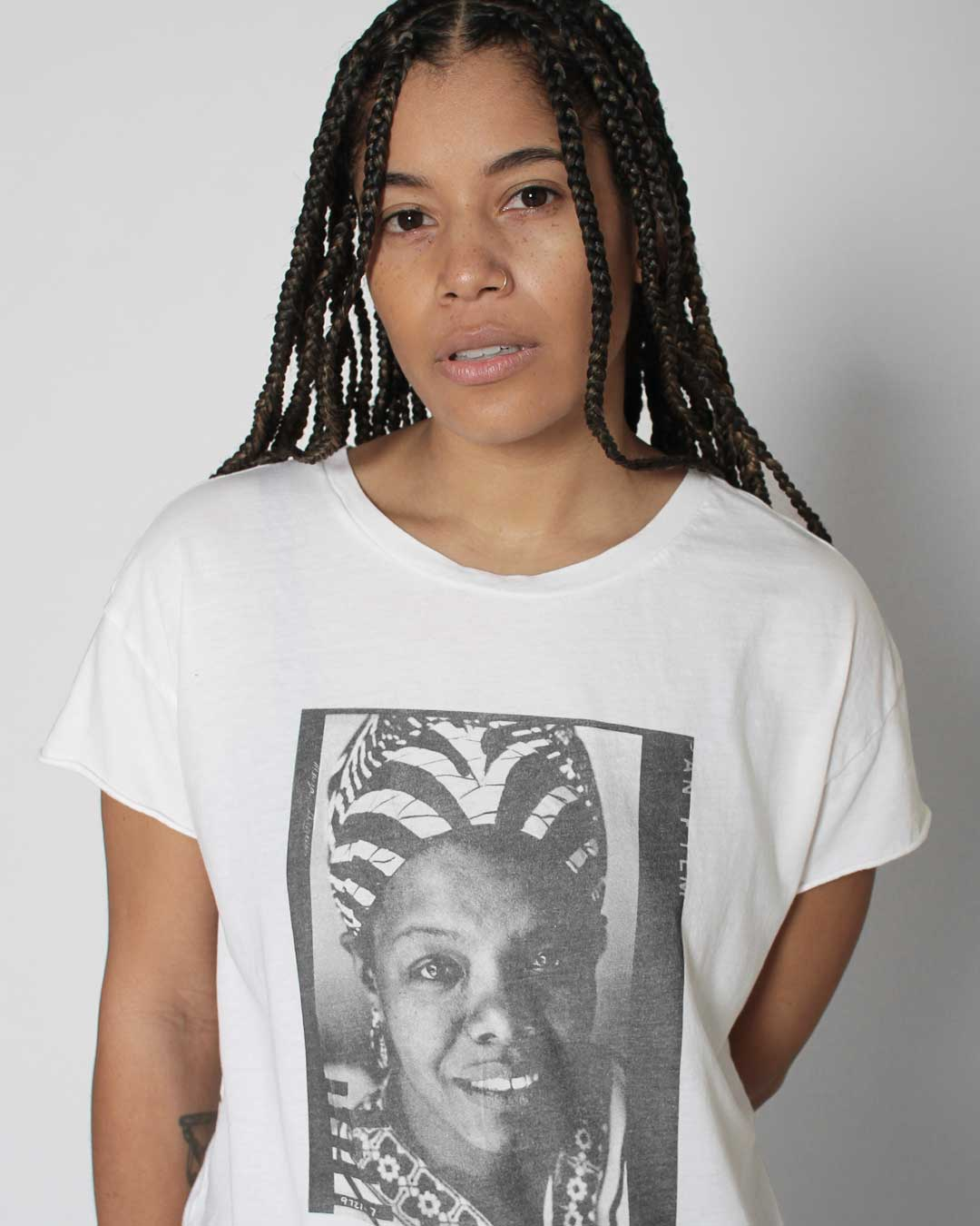 BHT - Maya Angelou Photo Women's Tee - Roots of Inc dba Roots of Fight