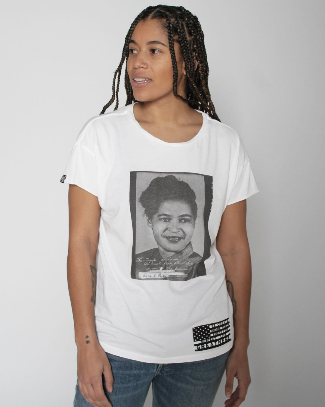 BHT - Rosa Parks Photo Women's Tee - Roots of Inc dba Roots of Fight
