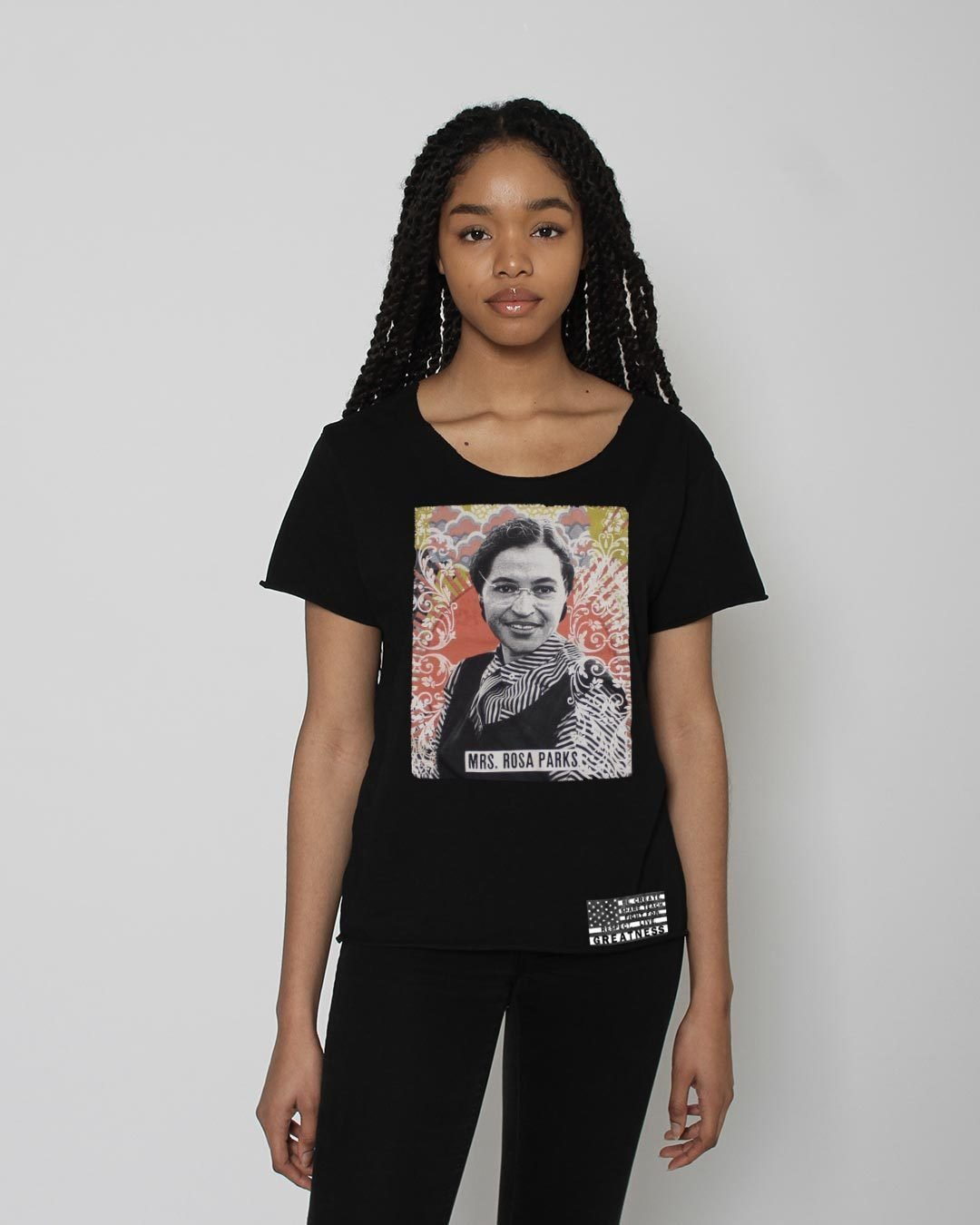 BHT - Rosa Parks Portrait Women's Tee - Roots of Inc dba Roots of Fight