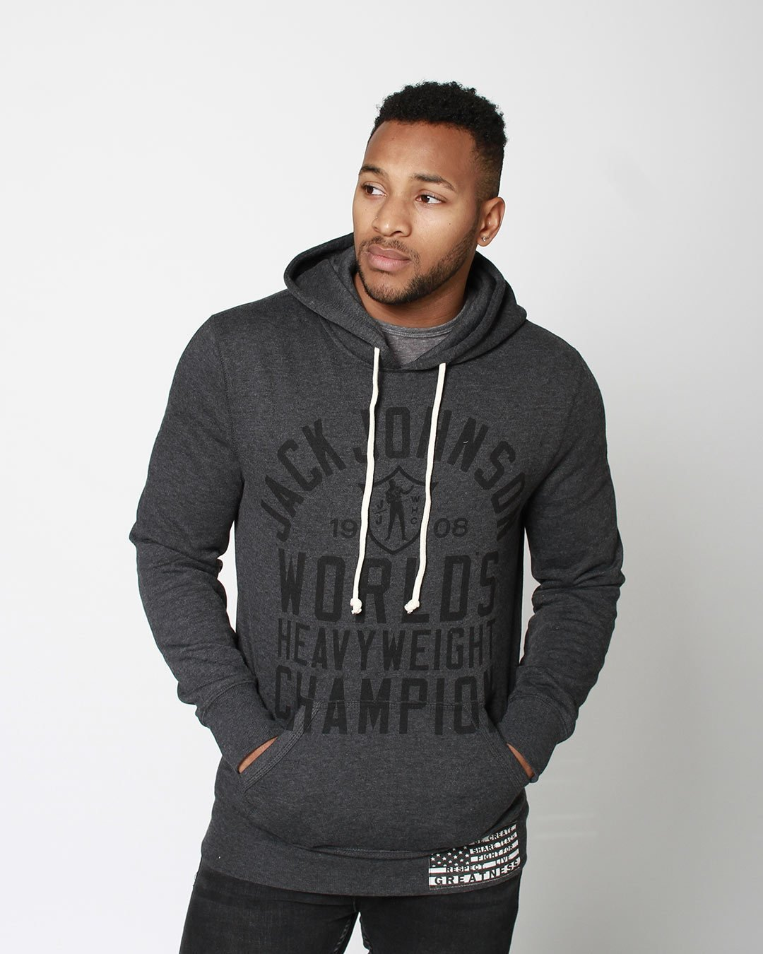 Black History Tribute - J. Johnson Pullover Hoody - Roots of Inc dba Roots of Fight
