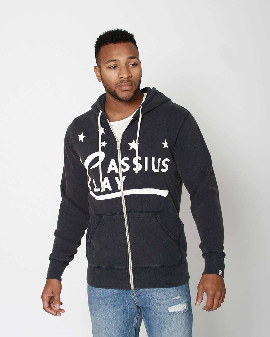 Cassius Clay FZ Hoody - Roots of Inc dba Roots of Fight
