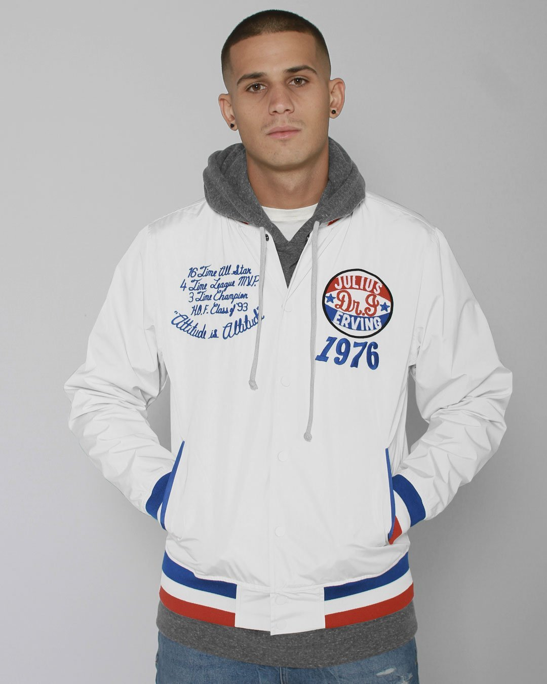 Dr. J 1976 Stadium Jacket - Roots of Inc dba Roots of Fight