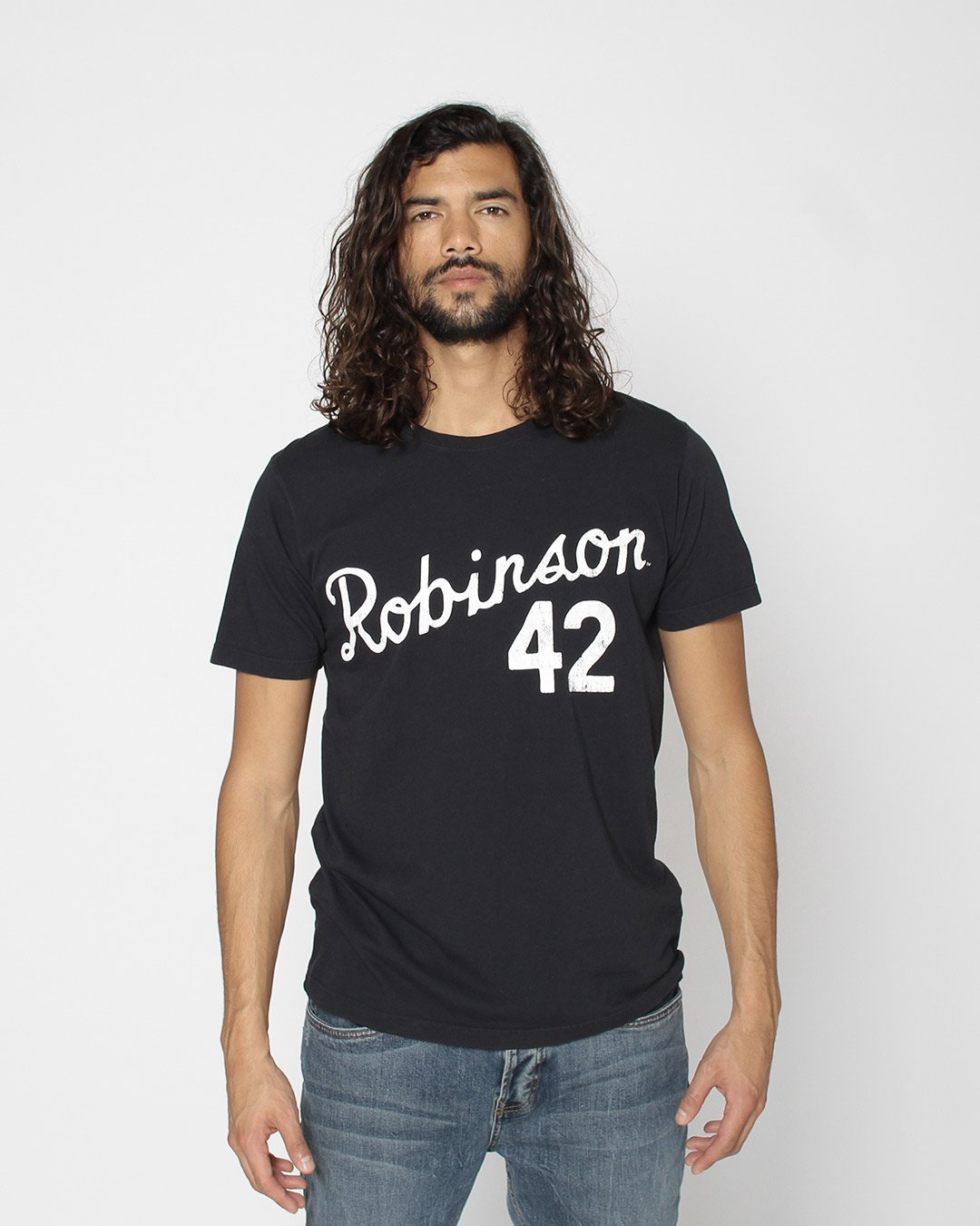 Jackie Robinson # 42 Classic Tee - Roots of Inc dba Roots of Fight