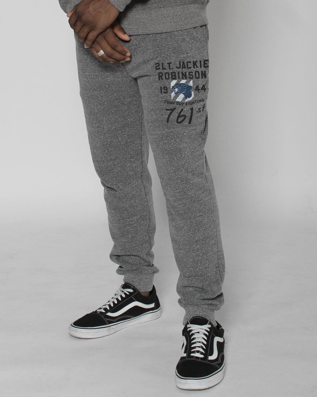 Jackie Robinson Come Out Fighting Sweatpants - Roots of Inc dba Roots of Fight