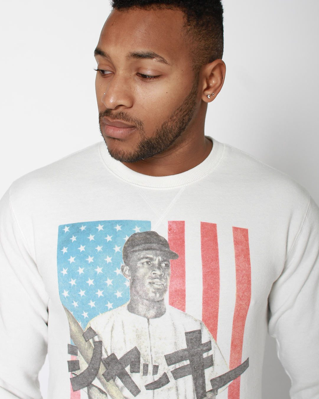 Jackie Robinson Script Sweatshirt - Roots of Inc dba Roots of Fight
