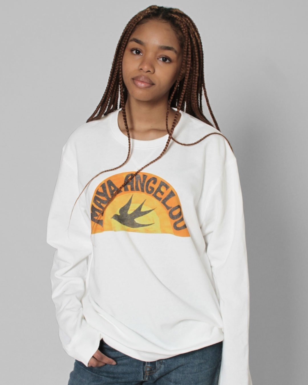 Maya Angelou Bird Sweatshirt - Roots of Inc dba Roots of Fight