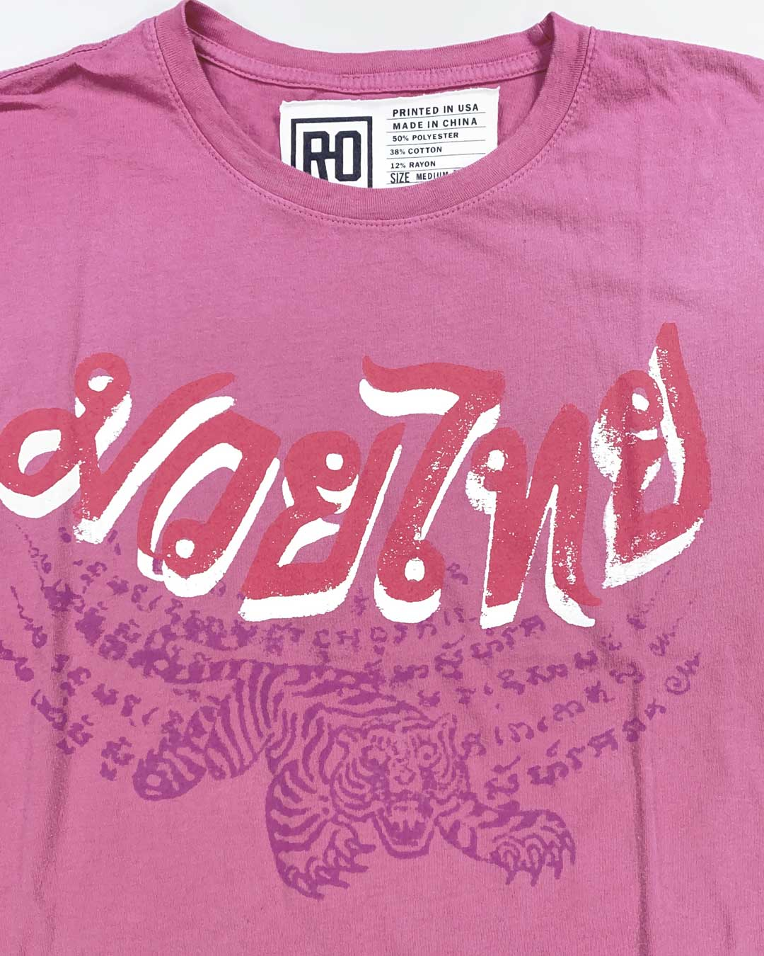 Muay Thai Tiger Script Tee - Roots of Inc dba Roots of Fight