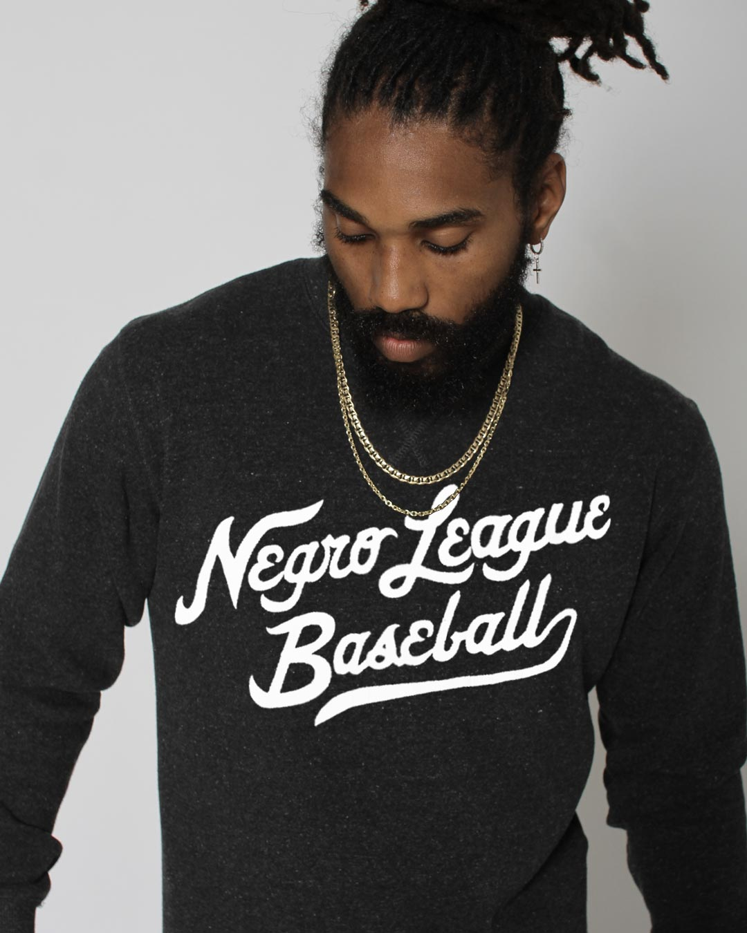 Negro League Baseball Script Sweatshirt - Roots of Inc dba Roots of Fight