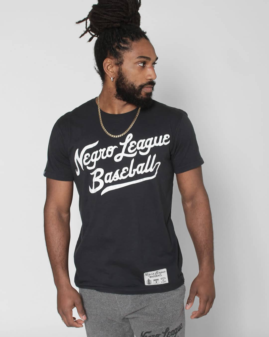 Negro League Baseball Script Tee - Roots of Inc dba Roots of Fight