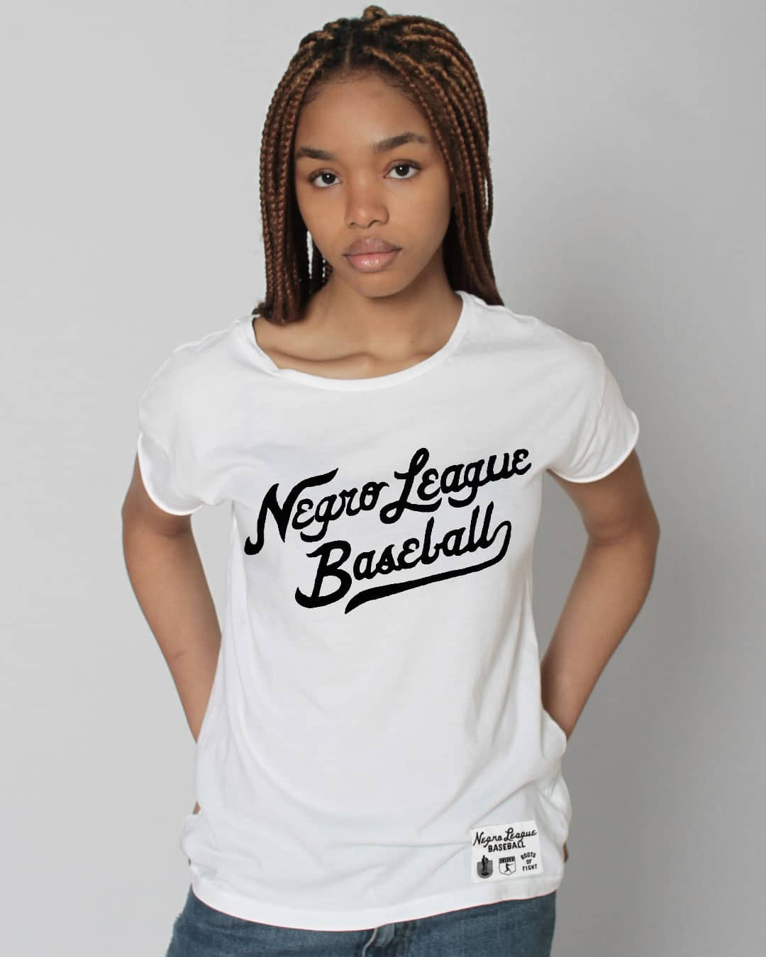 Negro League Baseball Script Women's Tee - Roots of Inc dba Roots of Fight