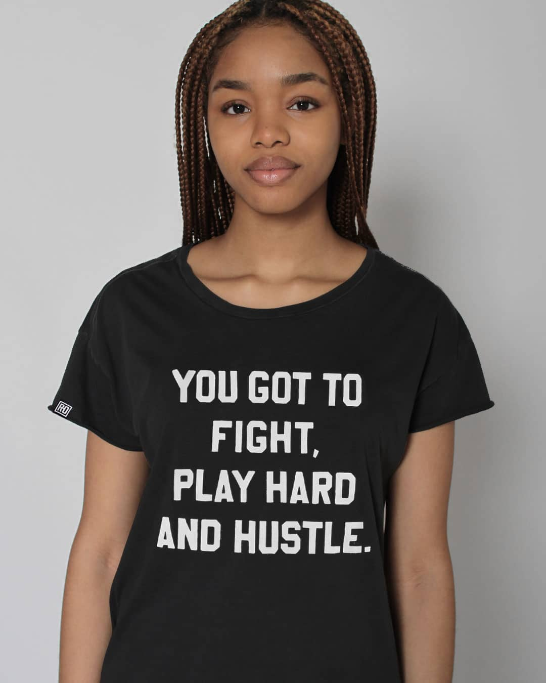 RO - Fight Play Hustle Women's Tee - Roots of Inc dba Roots of Fight