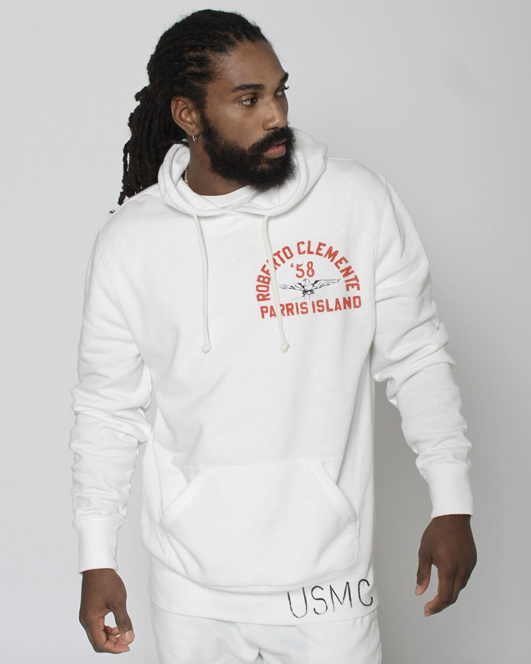Roberto Clemente Parris Island Pullover Hoody - Roots of Inc dba Roots of Fight