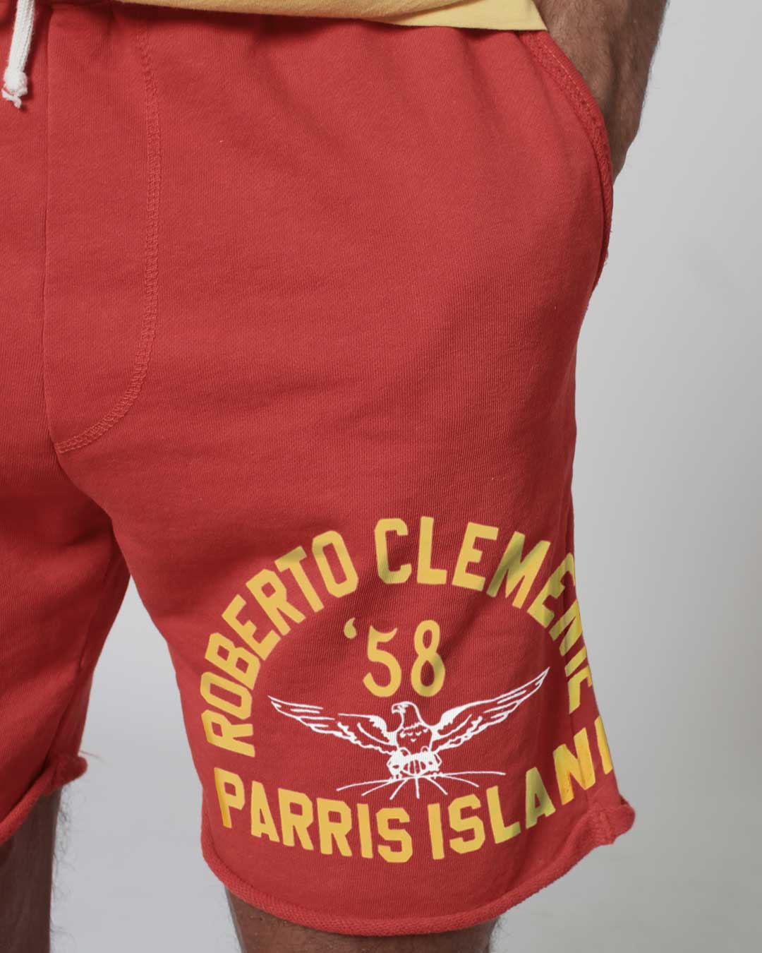 Roberto Clemente Parris Island Shorts - Roots of Inc dba Roots of Fight