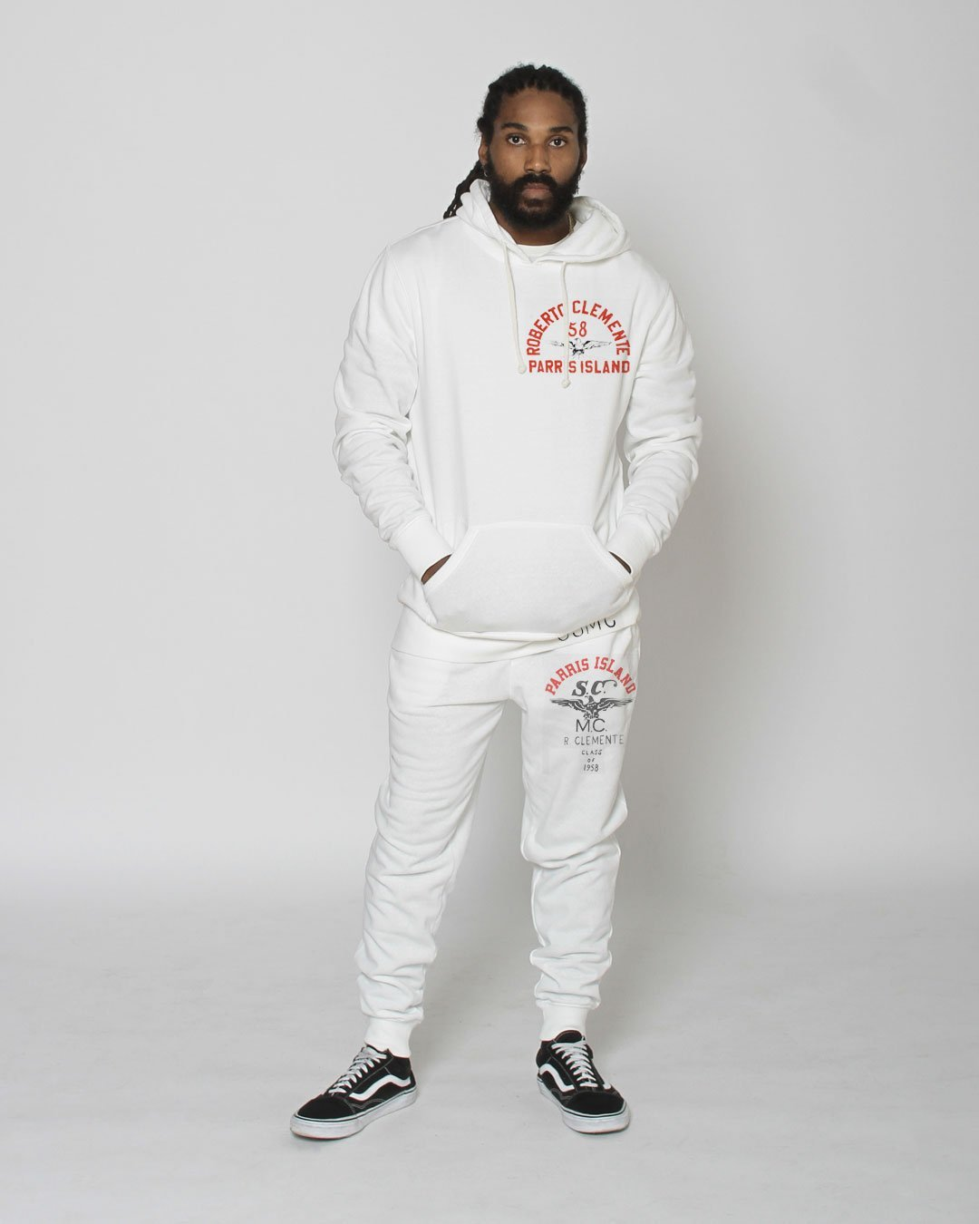 Roberto Clemente Parris Island Sweatpants - Roots of Inc dba Roots of Fight