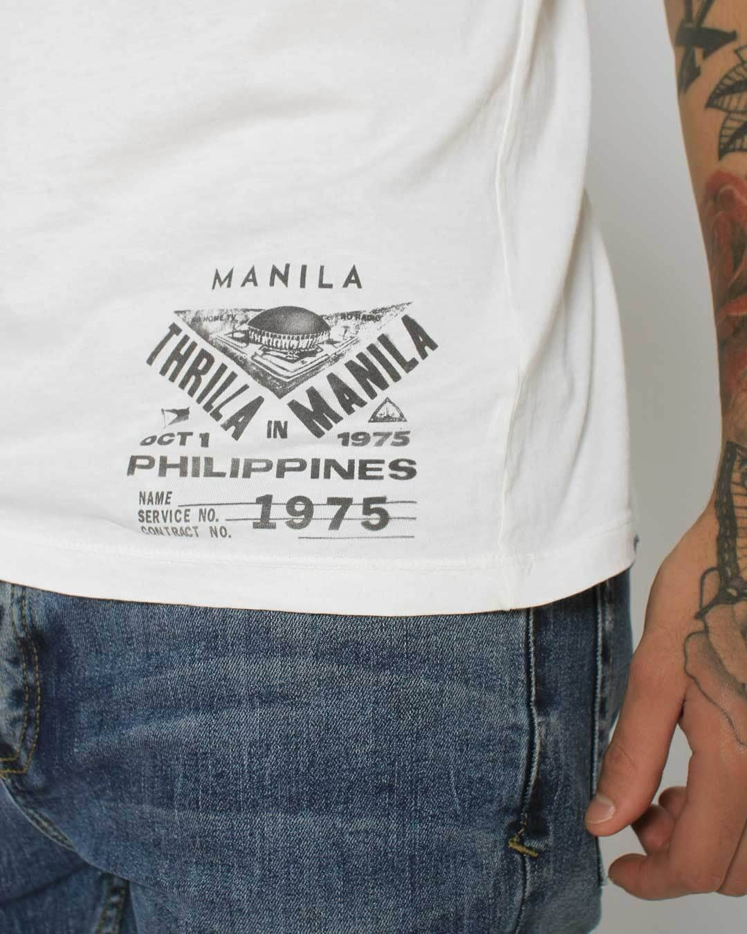 Thrilla in Manila '75 Emblem Tee - Roots of Inc dba Roots of Fight