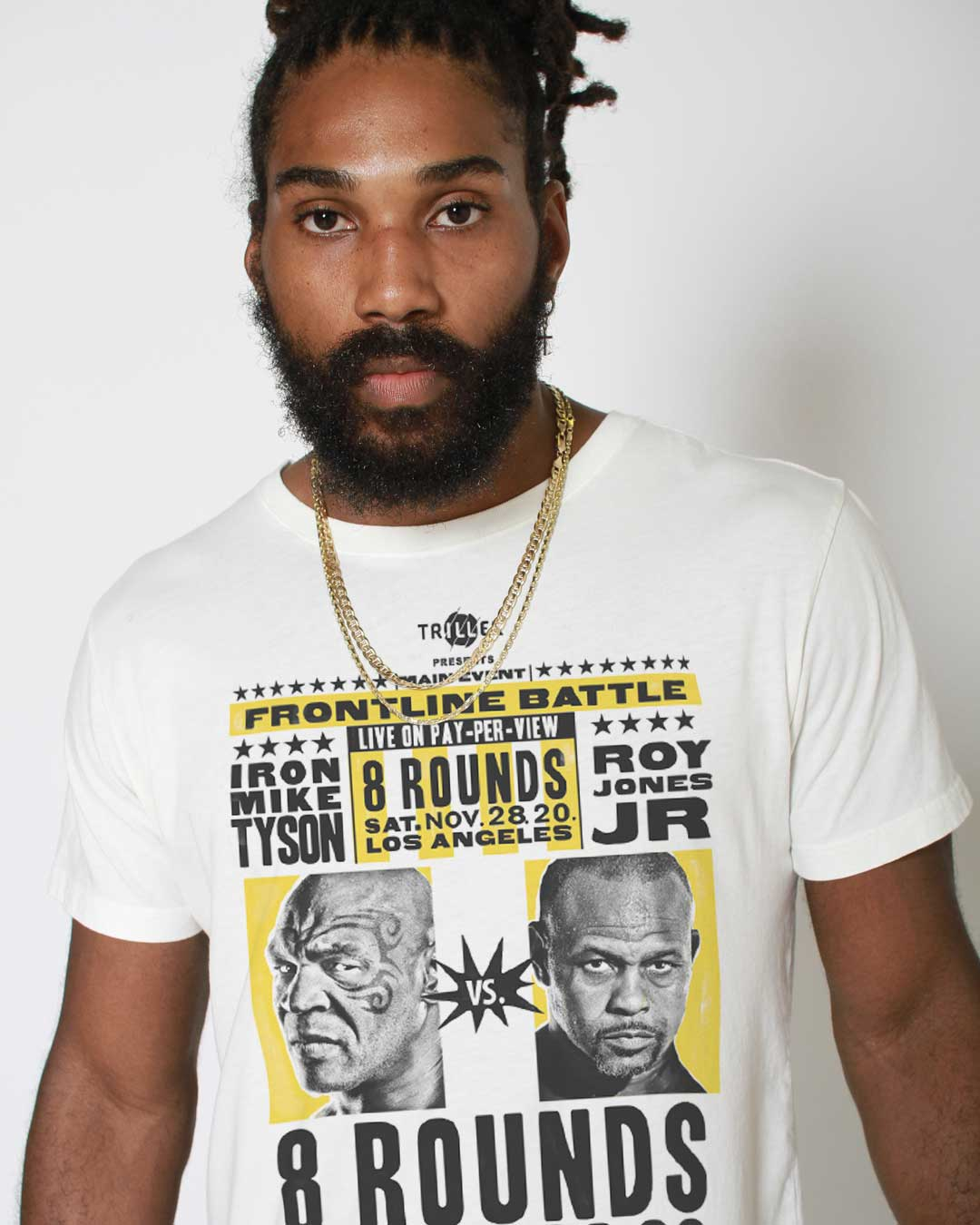 Tyson vs Jones Triller Event Tee - Roots of Inc dba Roots of Fight