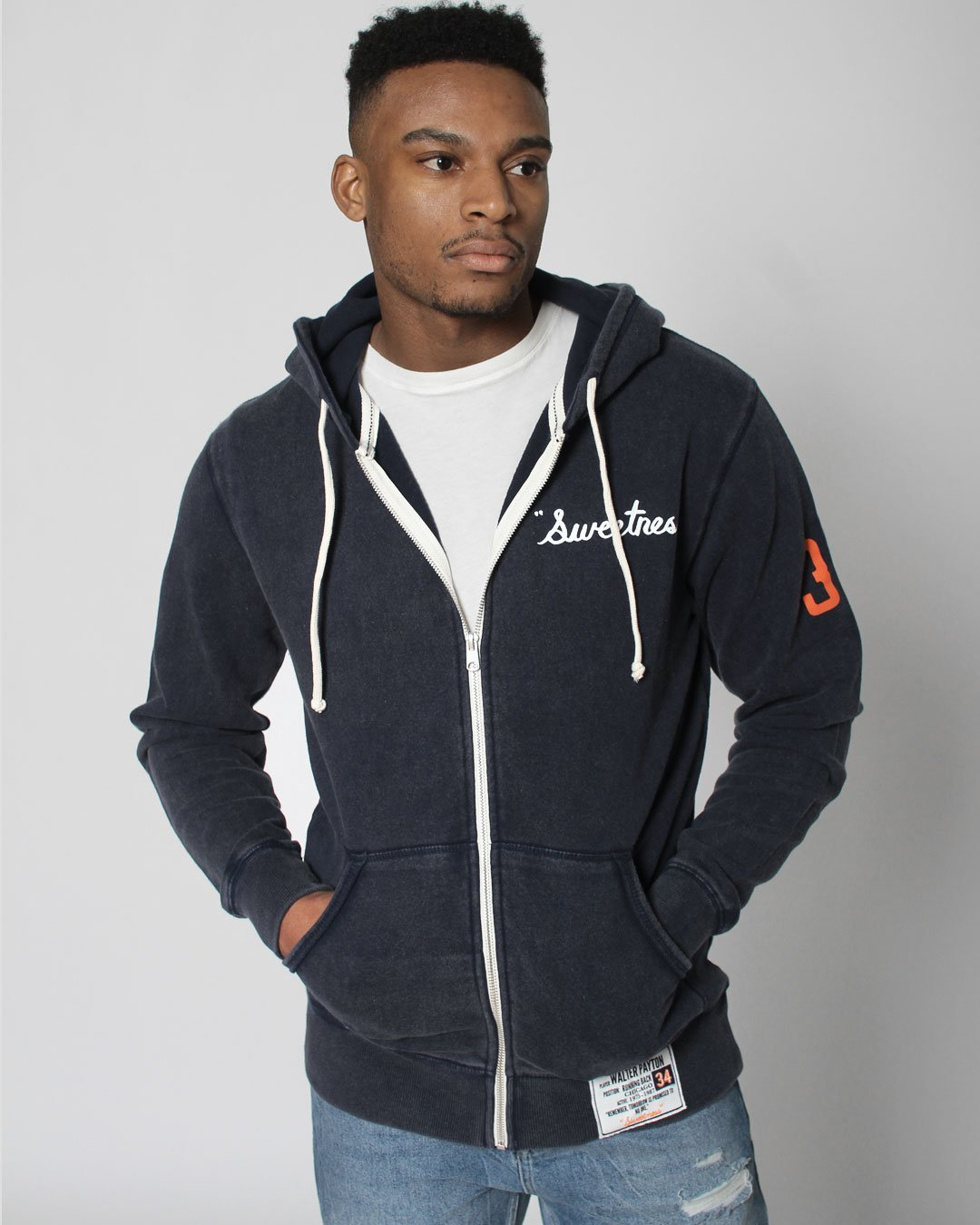 Walter Payton Sweetness Heritage FZ Hoody - Roots of Inc dba Roots of Fight