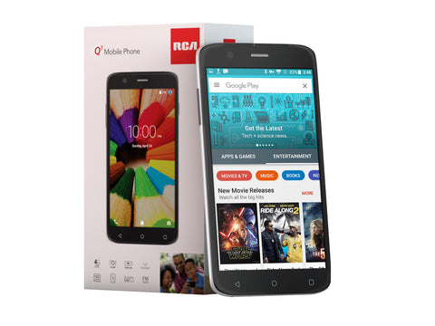 RCA Q1 4G LTE, HD, Unlocked Dual SIM Cell Phone, 8GB, 8MP, Android 5.1 - Black