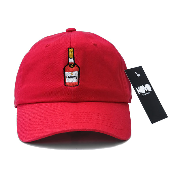 Henny Dad Hat - In Red Twilled Cotton
