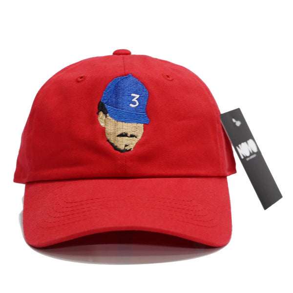 Chance The Rapper Dad Hat - Red In Twilled Cotton