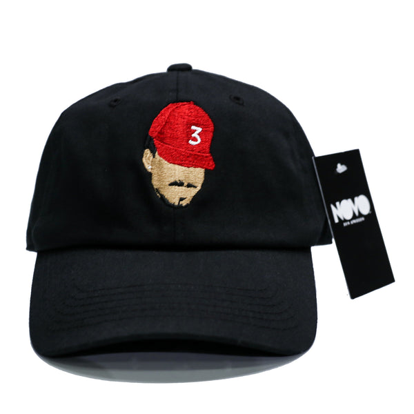 Chance The Rapper Dad Hat - Black In Twilled Cotton