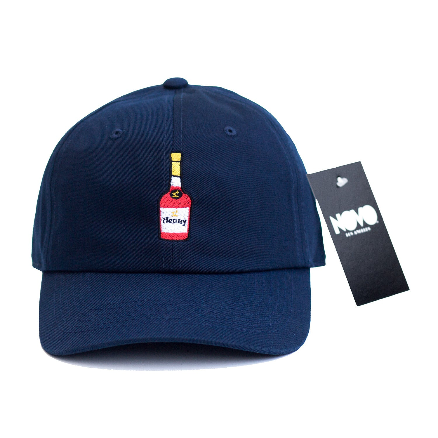 4dbb34717 Henny Dad Hat - Navy Blue In Twilled Cotton