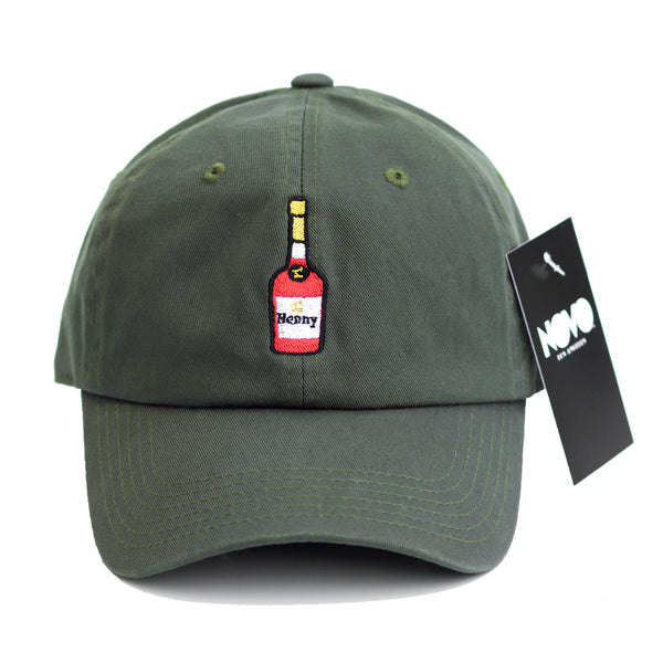 Henny Dad Hat - In Olive Green Twilled Cotton
