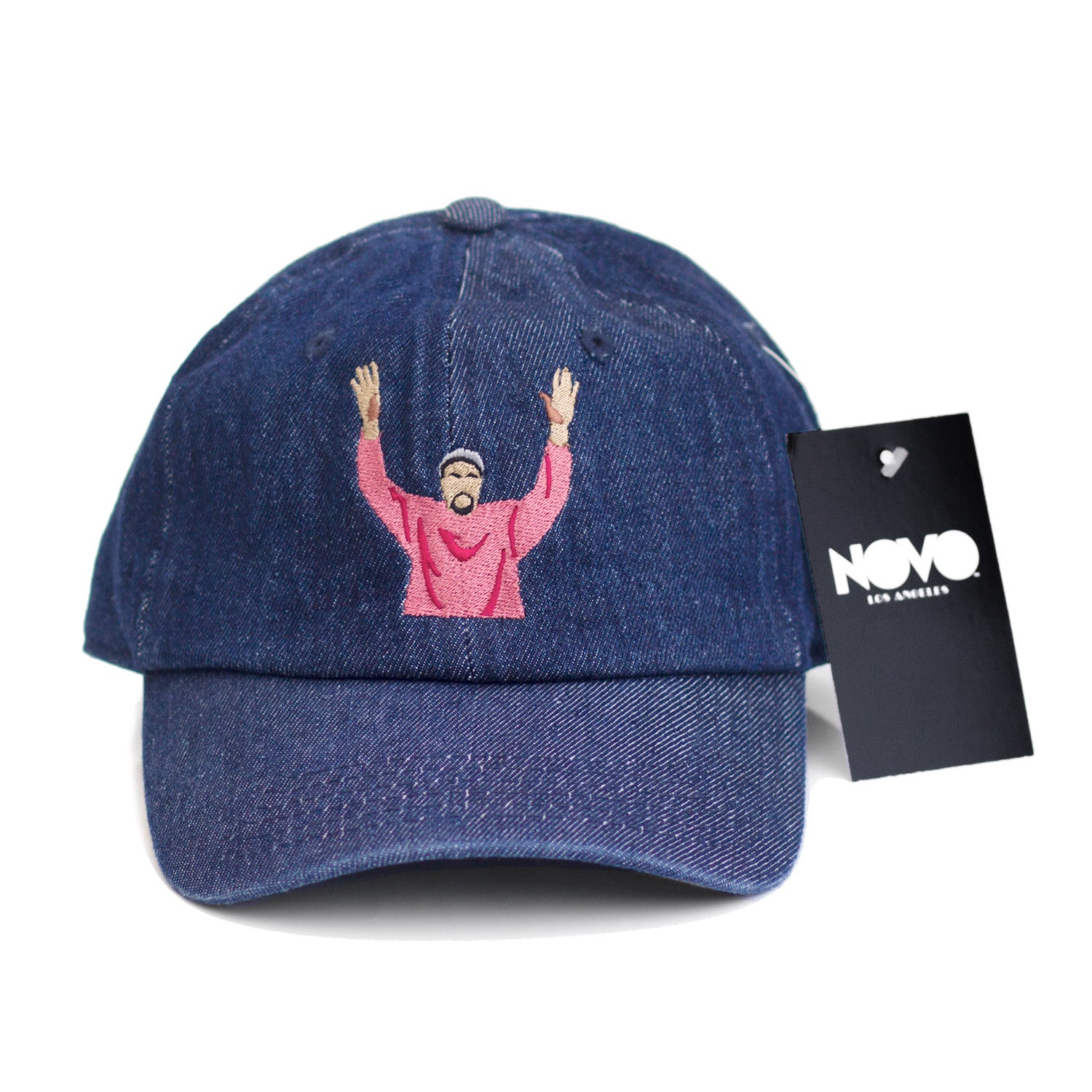 Kanye at Madison Square Garden Dad Hat - Dark Blue Denim – NOVOLOSANGELES 7f335bebf62