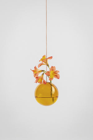 HANGING FLOWER/PLANT BUBBLE - AMBER (medium)