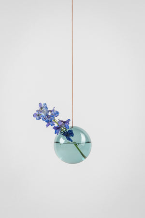 HANGING FLOWER/PLANT BUBBLE - CYAN (medium)
