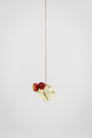 HANGING FLOWER/PLANT BUBBLE - GUL (small)