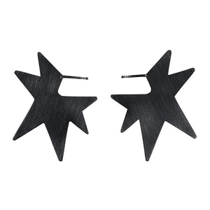 STAR BIG silver earrings, Janni Krogh