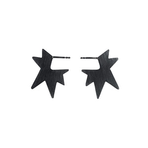 STAR SMALL silver earrings, Janni Krogh
