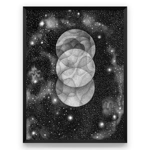 THREE MOONS - PRINT