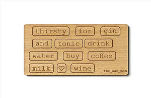 WORDS - DRINKS magneter